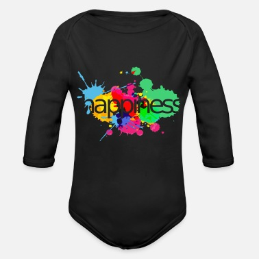 Happiness happiness - Body Bébé bio manches longues
