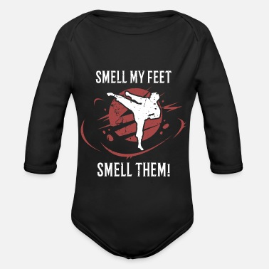 Smell Smell my feet smell them - Baby Bio Langarmbody
