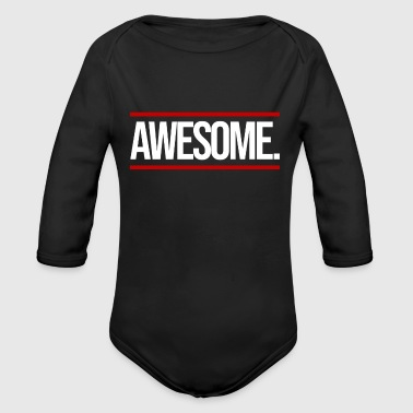 Awesome Awesome - Økologisk langermet baby-body