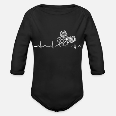 996 Ducati Heartbeat white - Organic Long-Sleeved Baby Bodysuit