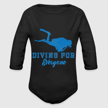 Diving / Diving: Diving For Everyone - Organic Longsleeve Baby Bodysuit
