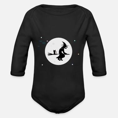 Witch The Witch / The Witch - Organic Longsleeve Baby Bodysuit