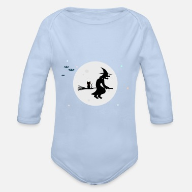 Witch The Witch / The Witch - Organic Long-Sleeved Baby Bodysuit