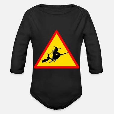 Witch witches witch witches witch halloween - Organic Longsleeve Baby Bodysuit