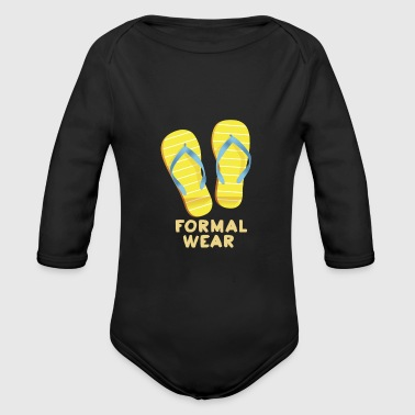 Wear Formal Wear - Baby Bio-Langarm-Body