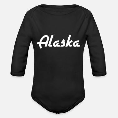 State Alaska - State - United States - United States - Anchorage - Organic Long-Sleeved Baby Bodysuit