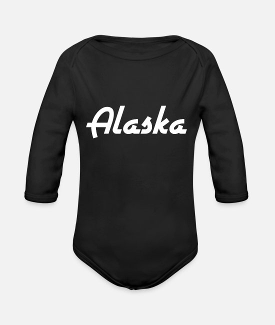 USA Baby Bodys - Alaska - State - USA - United States - Anchorage - Baby Bio Langarmbody Schwarz
