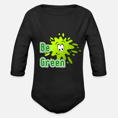 Green Be Green - Organic Long-Sleeved Baby Bodysuit