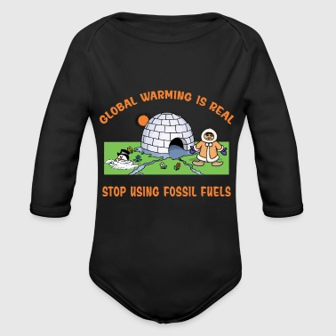 Global Warming - Organic Longsleeve Baby Bodysuit