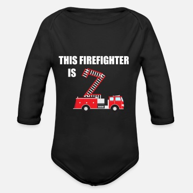 Fire Fire Engine - Organic Long-Sleeved Baby Bodysuit