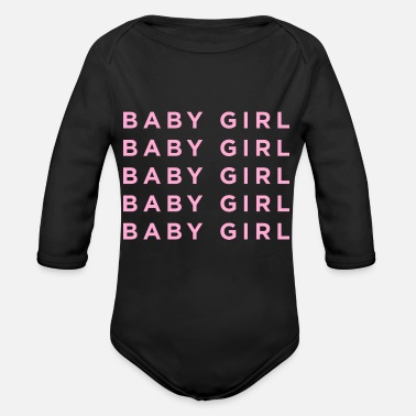 Baby Girl Baby Girl Girl Power - Organic Long-Sleeved Baby Bodysuit