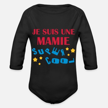 Grand Parents Mamie Mamy Grand-Mère Grand Mere Grands Parents - Organic Long-Sleeved Baby Bodysuit