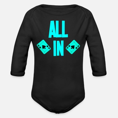 Holdem Poker ALL IN Card Poker Texas Holdem - Baby bio-rompertje met lange mouwen