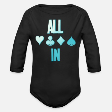 Holdem Poker ALL IN Card Poker Texas Holdem - Body ecologico per neonato a manica lunga