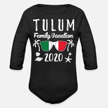 Spring Break Group Family Vacation Tulum 2020 print - Organic Long-Sleeved Baby Bodysuit