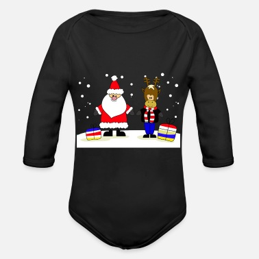 Collections Christmas Collection - Økologisk langermet babybody
