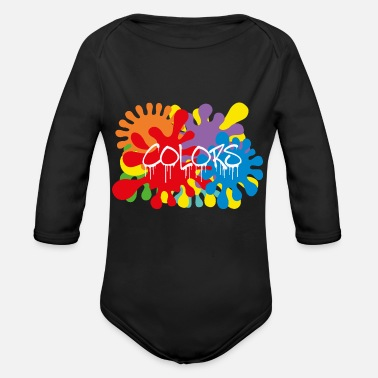 COLORS TASKS - Organic Long-Sleeved Baby Bodysuit