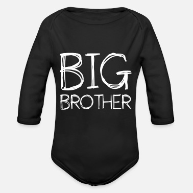 Big Big Brother Big brother broers en zussen - Baby bio-rompertje met lange mouwen