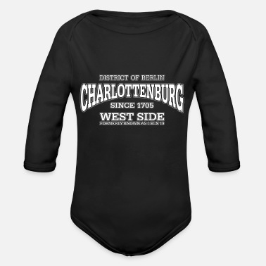 West Berlin Charlottenburg Berlin West Side (white) - Organic Long-Sleeved Baby Bodysuit