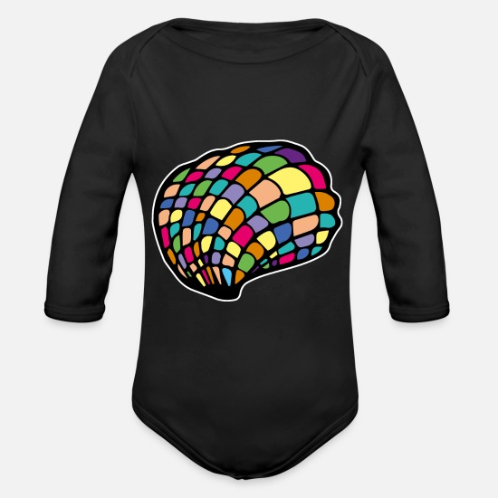 Gift Idea Baby Clothes - shell - Organic Long-Sleeved Baby Bodysuit black