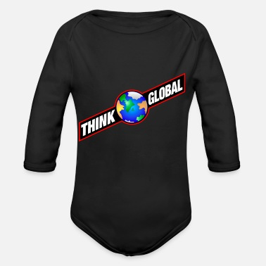 Global think global / global denken / global - Baby Bio Langarmbody