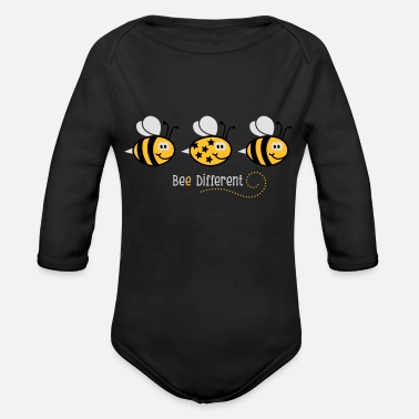 Bee Be different - be yourself - Biene - Bee - 3C - Baby Bio Langarmbody