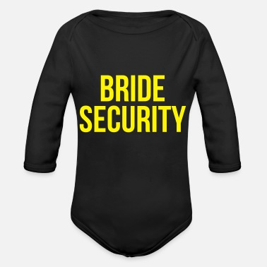 Security Bride security - Organic Long-Sleeved Baby Bodysuit