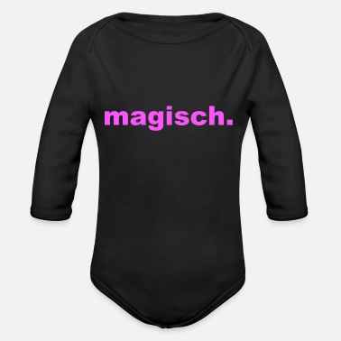 Magic magical - Organic Long-Sleeved Baby Bodysuit