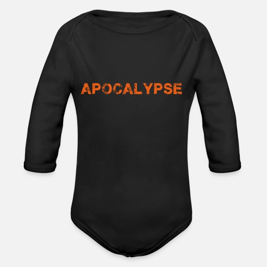 Gift Idea Baby Clothes - Apocalypse - Organic Long-Sleeved Baby Bodysuit black
