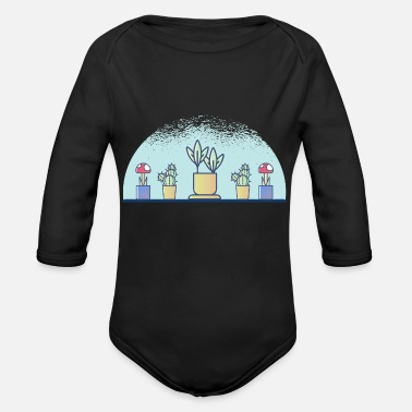 Plant-grounds plants - Organic Long-Sleeved Baby Bodysuit