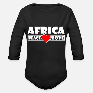Africa Africa - Africa - Organic Long-Sleeved Baby Bodysuit