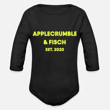Media applecrumble fish yellow - Organic Long-Sleeved Baby Bodysuit