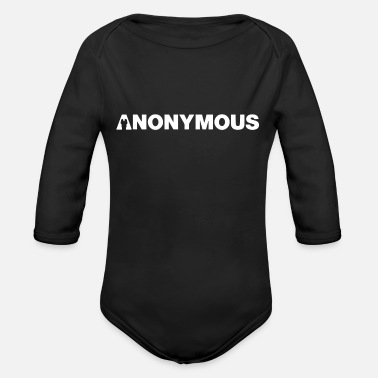 We Do Not Forgive Anonymous - We are legion - Expect us - Organic Long-Sleeved Baby Bodysuit