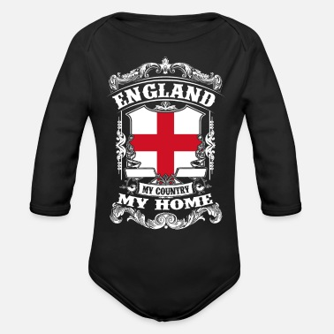 Ireland England - My country - My home - Organic Longsleeve Baby Bodysuit