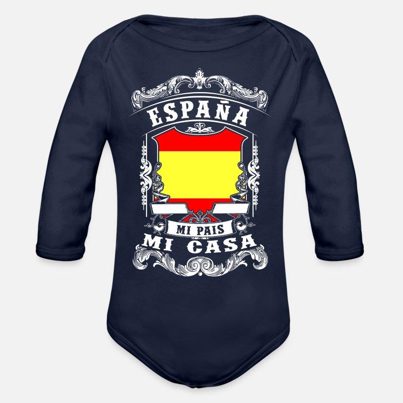 España - Mi Pais - Mi Casa Body manches longues Bébé  c554cf18aca1