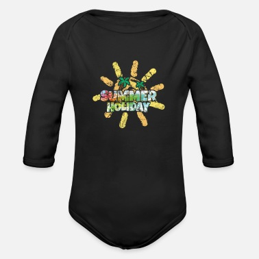 Bank Holiday holiday - Organic Long-Sleeved Baby Bodysuit