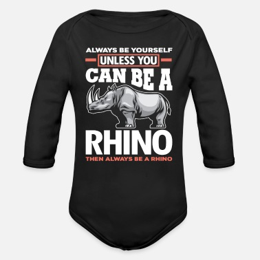 Steppe Rhinoceros steppe - Organic Long-Sleeved Baby Bodysuit
