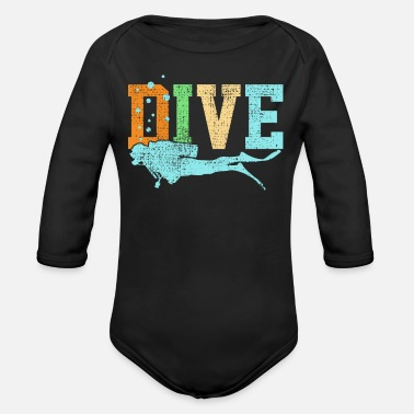 Dive Diving Diving - Organic Long-Sleeved Baby Bodysuit