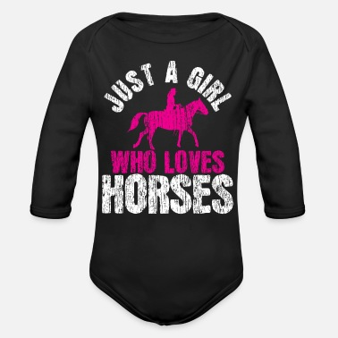 Horse Farm Horse Farm Farmer - Organic Long-Sleeved Baby Bodysuit