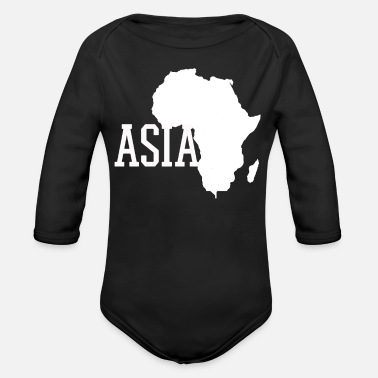 Asia Asia Asia Asia - Organic Long-Sleeved Baby Bodysuit