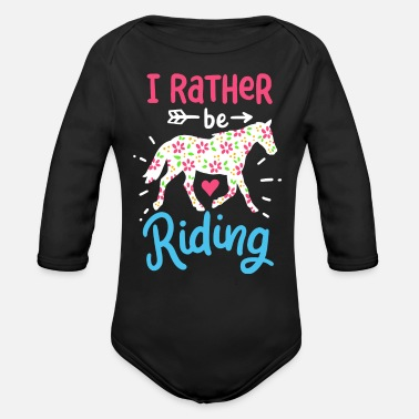 Horse Farm Horse farm equestrian vacation horses - Organic Long-Sleeved Baby Bodysuit