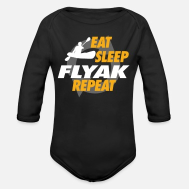 Flyak Present Eat Sleep Flyak Repeat For Flyak Captains - Organic Long-Sleeved Baby Bodysuit