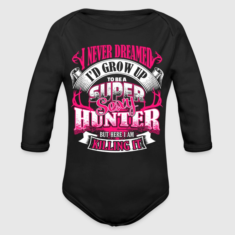 Super Sexy Hunter - EN - Baby Bio-Langarm-Body