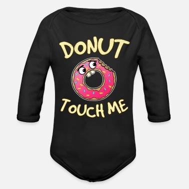 Comic Book Donut Touch Me Comic Funny Gift - Organic Long-Sleeved Baby Bodysuit