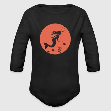 Princess underwater mermaid - Organic Longsleeve Baby Bodysuit