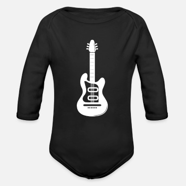 Instrument Electric guitar musical instrument gift - Organic Long-Sleeved Baby Bodysuit