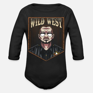 Sheriff sheriff - Organic Long-Sleeved Baby Bodysuit