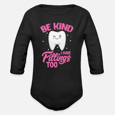 Tooth tooth - Organic Long-Sleeved Baby Bodysuit