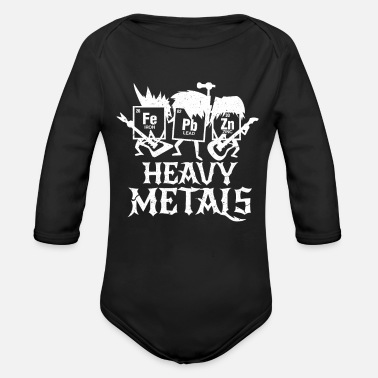 Iron Metal Chemistry heavy metal science iron gift - Organic Long-Sleeved Baby Bodysuit