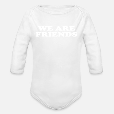 WE ARE FRIENDS Gift for siblings friends - Organic Long-Sleeved Baby Bodysuit